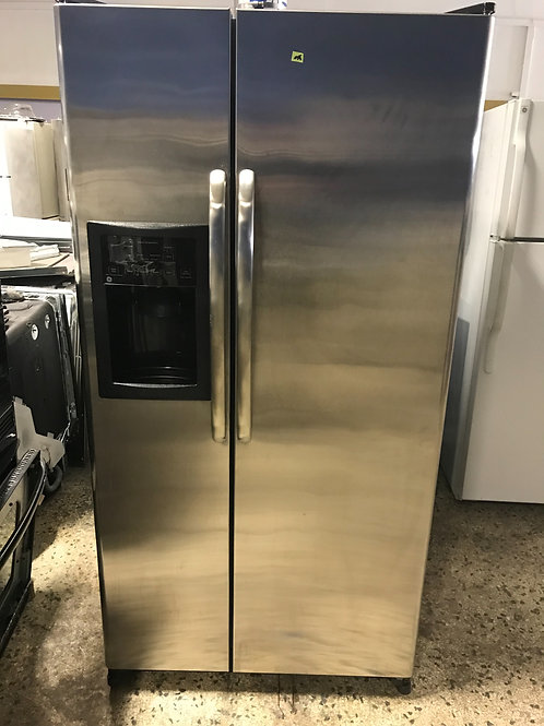 Ge brand refurbished stainless steel side by side refrigerator