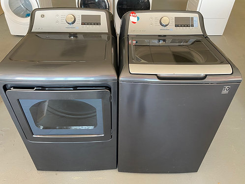 ge top load washer dryr set with warrnty