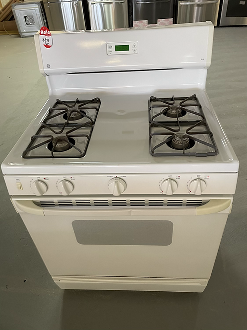 Ge refurbished white gas stove working condition with warranty.