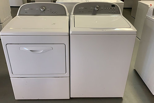 whirlpool cabrio top load washer set with warrnty