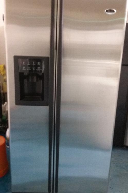 ge profile arctica stainless steel fridge