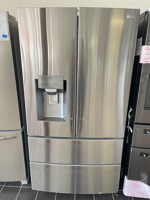 """LG new open box scratch and dent stainless steel 36"""" refrigerator."""