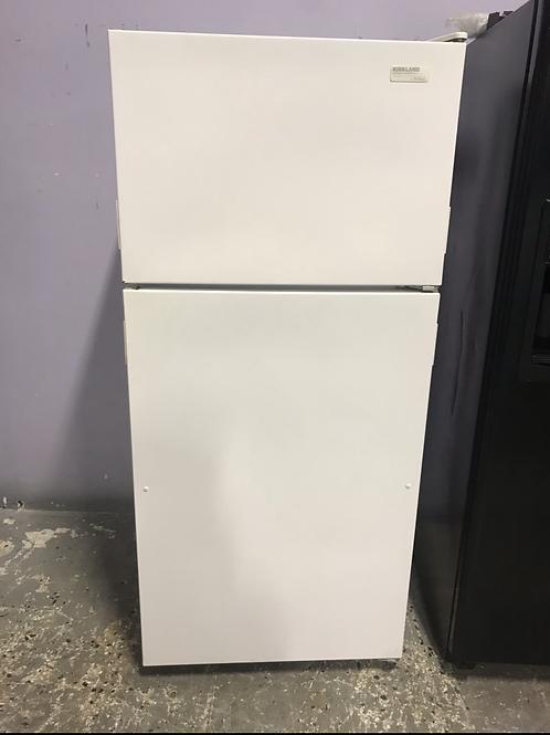 Kirkland refurbished 28x63 top and bottom fridge works great with warranty.
