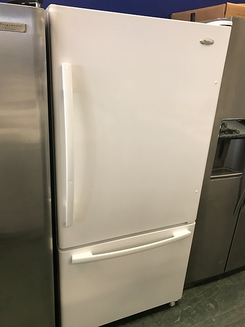 33by69 whirlpool bottom freezer and top fridge