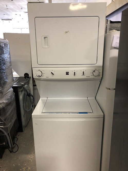 """New 27"""" kenmore stack unit electric with one year warranty"""