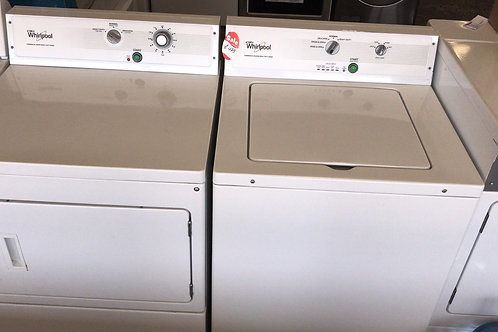 Whirlpool refurbished commercial washer dryer set with warranty.