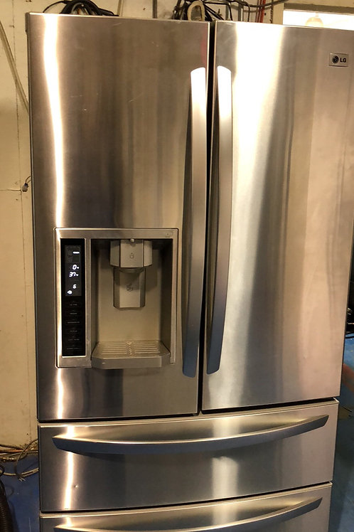"""36""""lg stainless Frenchdoor 4door water/ice with 90 days warranty"""