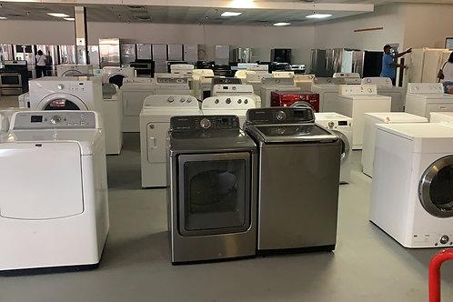 used washer dryr set on sale with warrnty