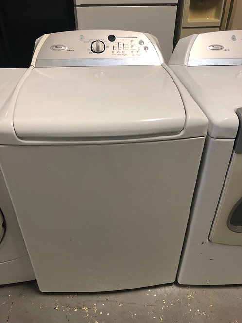 Whirlpool top load washer and dryer electric set with warranty