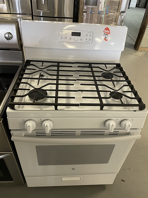 Ge new white gas stove working condition with 90 days warranty.