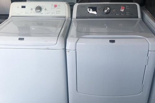 Maytag washer dryer set with 90 days warranty