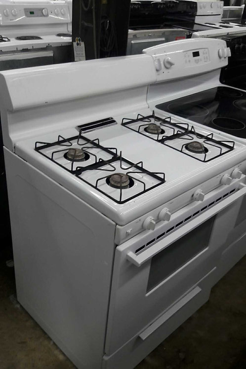 "30""width gas stove white with 45 days warranty"
