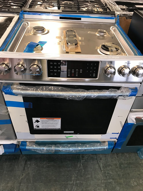 Frigidaire professional gas stove slide in gas range.