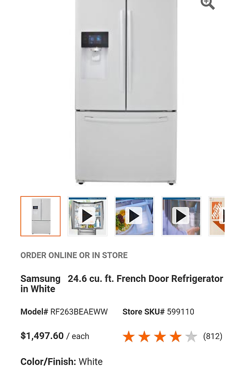 36'' Samsung FrenchDoor White IN Box