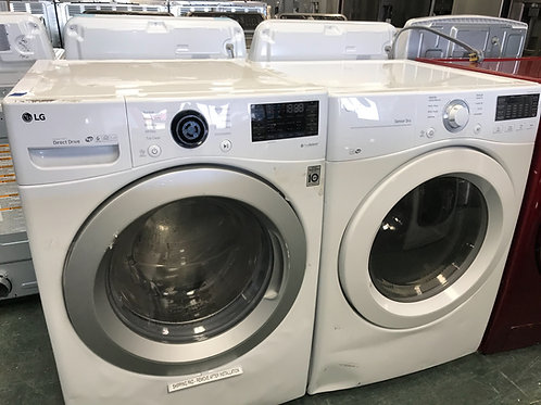 LG brand new open box scratch and dent model stackable washer dryer 1Y warranty.