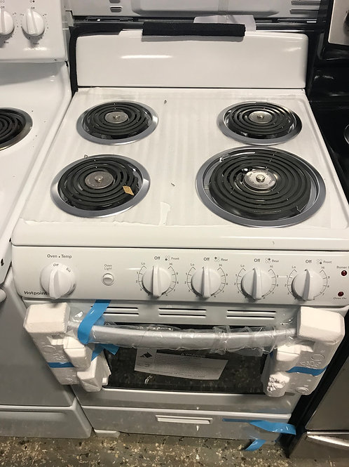 """Hotpoint new 24"""" coil top stove works great with warranty."""