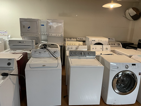 Refurbished top load and frontload washer dryer working condition $150 and up.
