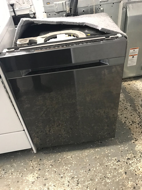 "Samsung brand refurbished blackstainless dishwasher 24""."