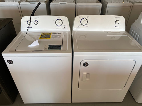 Amana new top load washer 3.5cuft and dryer 6.5cuft set.