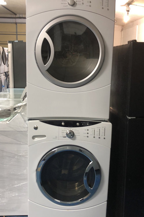 """27""""ge stackable washer dryer great works with 90 days warranty"""