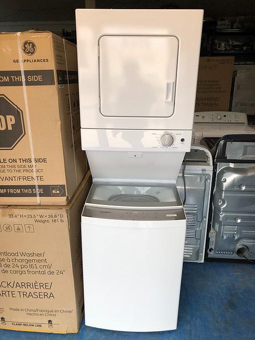 "24""whirlpool brand new open box gas stackable 1 year warranty"