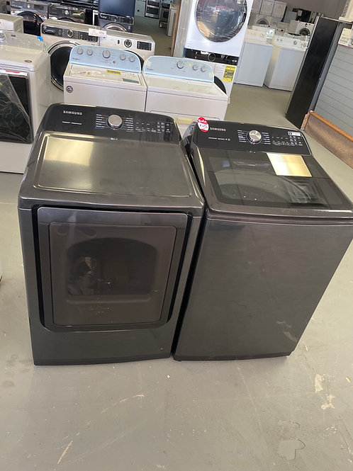 Samsung new top load washer dryer set working condition with warranty.