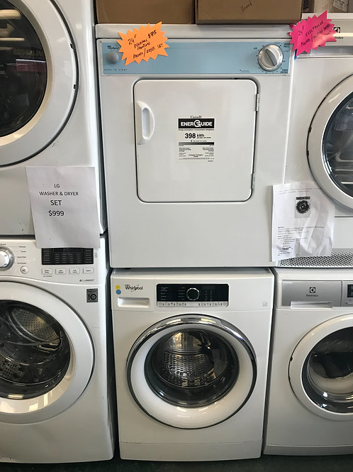Whirlpool 24 inch front load washer dryer set