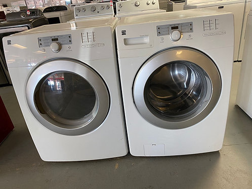 Kenmore refurbished frontload stackable washer dryer set with warranty.