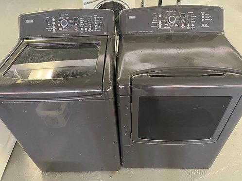 kenmre top load washer dryr set with warrnty
