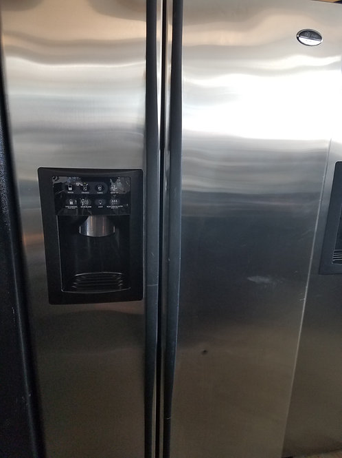 Ge Stainless Side by side fridge stainless steel