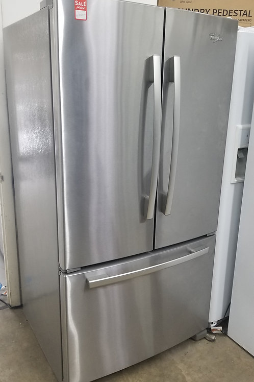 """36""""width whirlpool French door stainless"""
