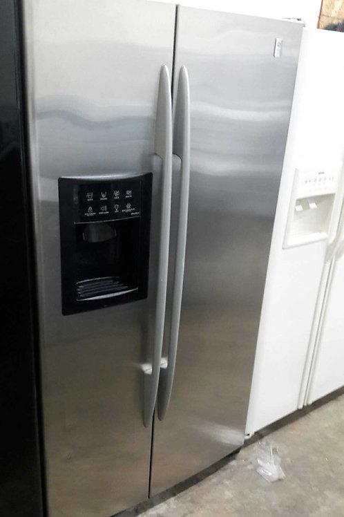 "36""width GE profile side by side fridge stainless"