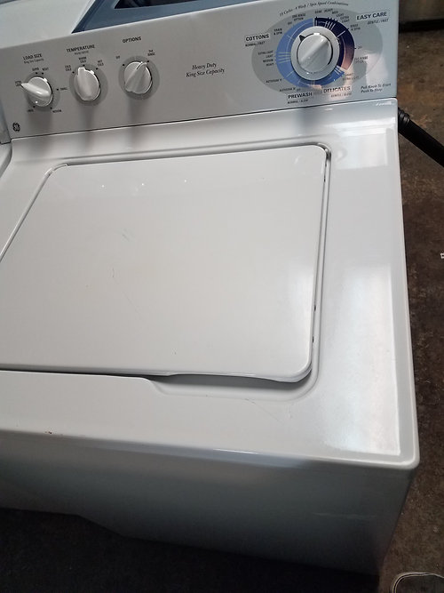 ge topload clothes washer and electric dryer