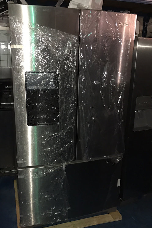 WHIRLPOOL STAINLESS FRENCHDOOR WATER/ICE IN GREAT WORKING WITH 1 YEAR WARRANTY