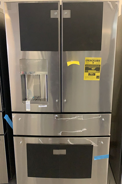 new open box ge cafe stainless steel four door fridge with warnnty