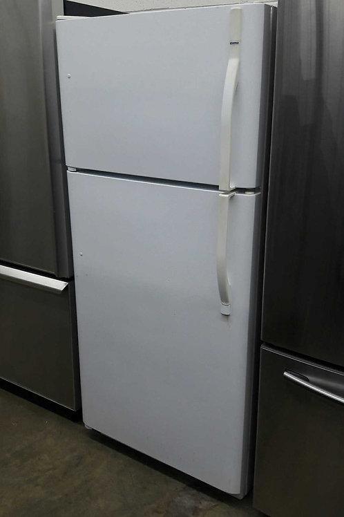 "30""kenmore top and bottom fridge white"
