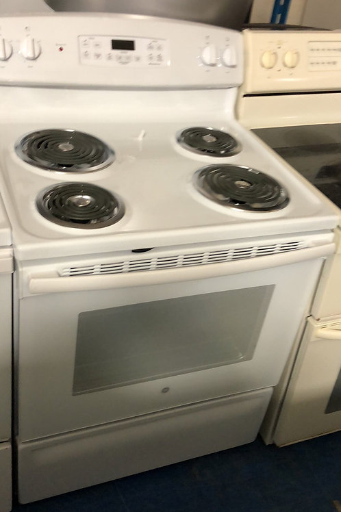 Brand new scratch and dent electric coil top stove with 1 year warranty
