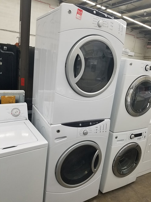 GE front load washer and dryer set stackable
