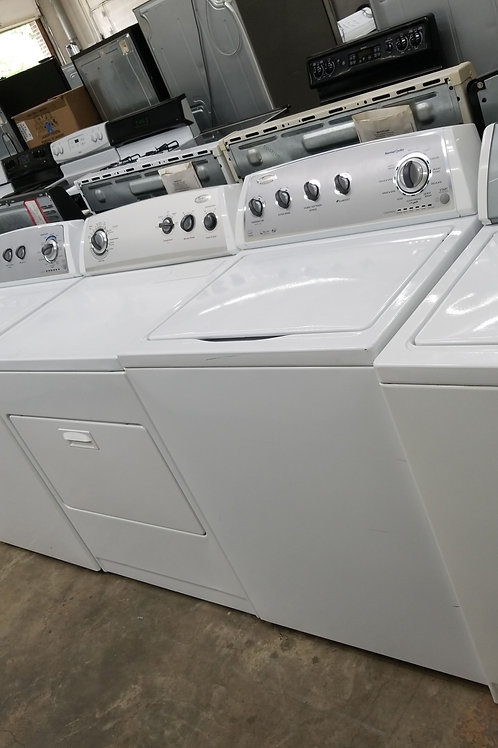 high efficiency whirlpool top load washer and drye