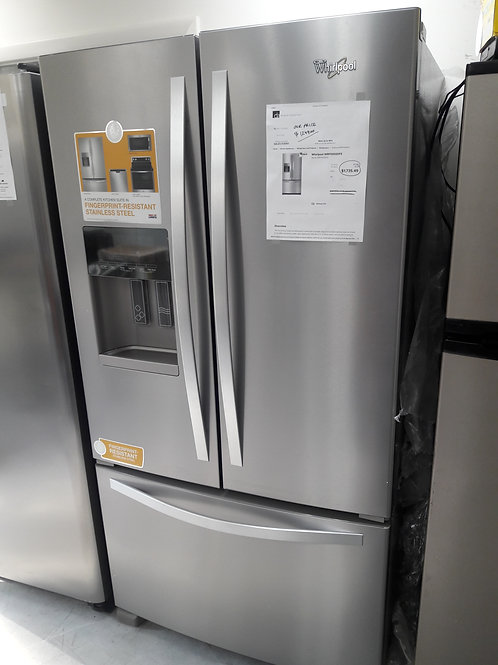 whirlpool French door stainless new