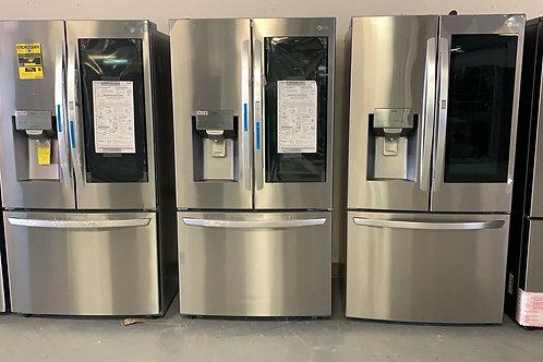"""LG brand new door in door Instaview french door refrigerator 36""""."""