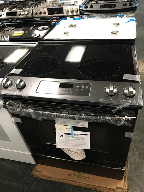 Ge brand new open box black stainless slide in electric.