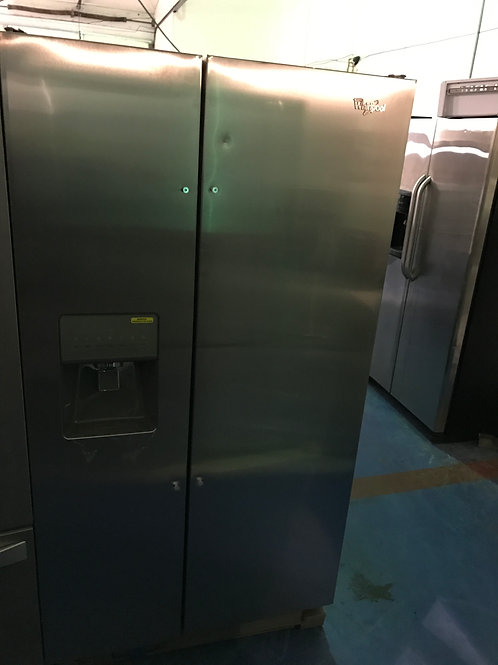 WHIRLPOOL STAINLESS SIDE BY SIDE BRAND NEW FRIDGE WITH 1 YEAR WARRANTY