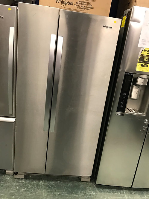 Whirlpool brand new open box scratch and dent stainless steel s/s refrigerator.