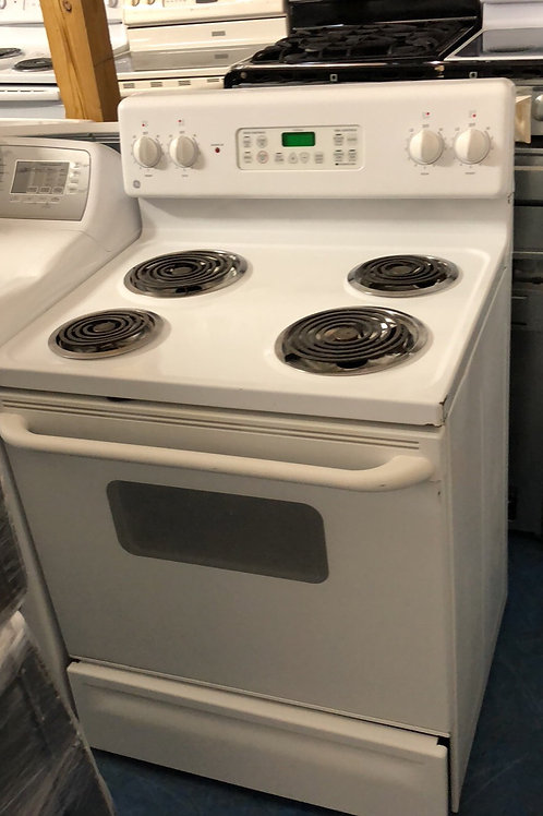 Ge coil top electric stove great works with 90 days warranty