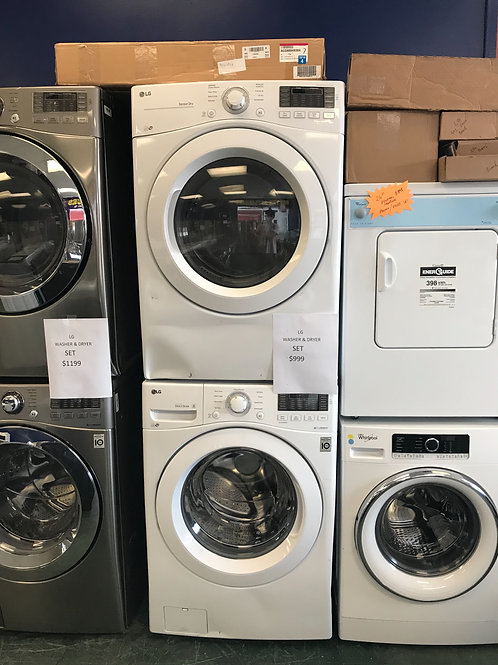 New Lg washer dryer front load set
