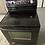 Thumbnail: Whirlpool refurbished black electric glass top stove.