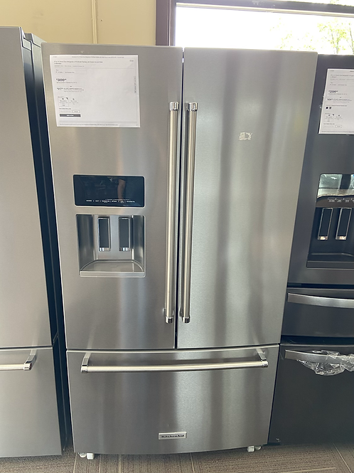 """36"""" kitchenaid stainless Frenchdoor fridge great working order with warranty"""