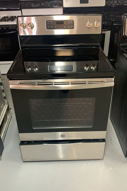 GE GLASS TOP STOVE WITH WARRNTY