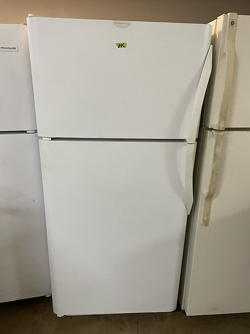 Frigidaire refurbished top and bottom fridge with ice maker 45 days warranty.